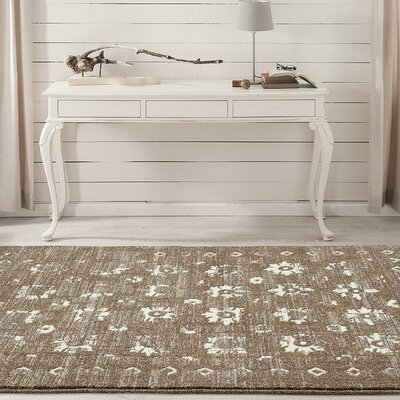 Shillington Gold/Beige Indoor/Outdoor Area Rug Rug Size: 5 x 7