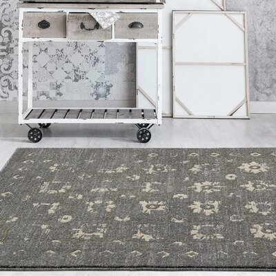 Shillington Gold/Gray Indoor/Outdoor Area Rug Rug Size: 5 x 7