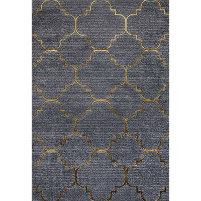 Silsden Gray/Yellow Indoor/Outdoor Area Rug Rug Size: 2 x 3