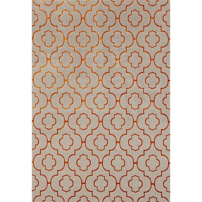 Silsden Cream/Orange Indoor/Outdoor Area Rug Rug Size: Rectangle 52 x 72