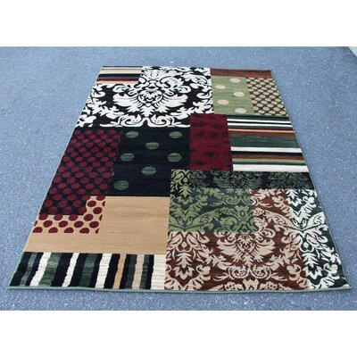 Alanson Green/Beige Indoor/Outdoor Area Rug Rug Size: Rectangle 4 x 5