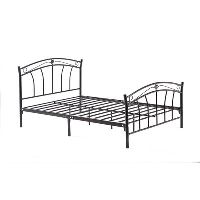 Strafford Panel Bed Finish: Black, Size: Twin