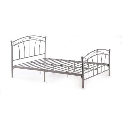 Strafford Panel Bed Finish: Silver, Size: Full