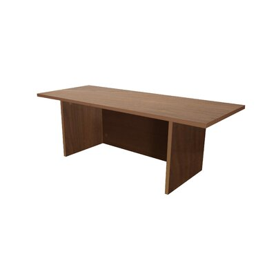 Mann 12 H x 36 W Standing Desk Conversion Unit Finish: Walnut