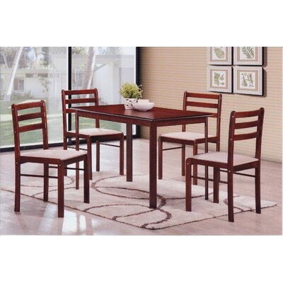 Sussex 5 Piece Dining Set Finish: Mahogany