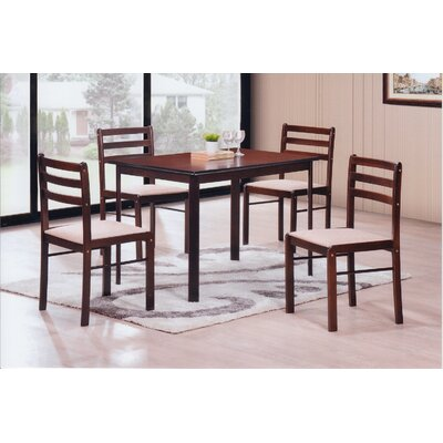 Sussex 5 Piece Dining Set Finish: Cappucino