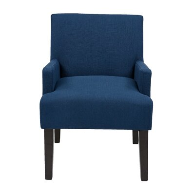 Guest Arm Chair Upholstery: Woven Indigo