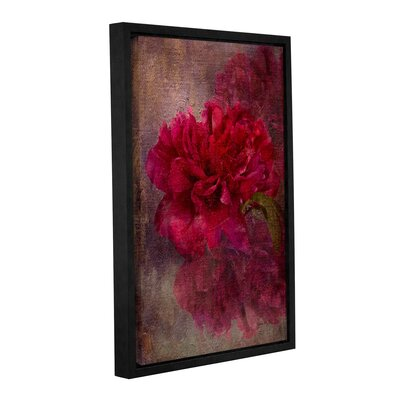 'Tapestry Rose' Framed Painting Print on Wrapped Canvas Size: 12