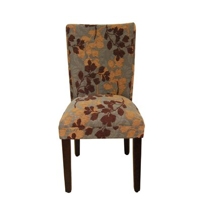 Tenbury Classic Upholstered Parsons Chair Upholstery: Brown / Tan Leaf