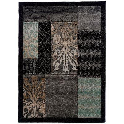 Conduit Black Area Rug Rug Size: 5 x 77
