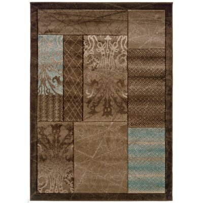 Carlee Brown Area Rug Rug Size: 110 x 210