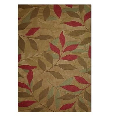Marisela Hand-Tufted Beige/Green Area Rug Rug Size: Rectangle 8 x 10