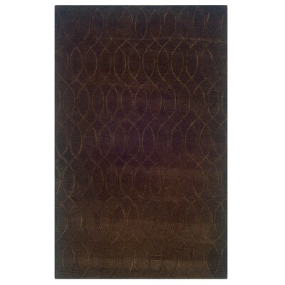 Jaqueline Hand-Tufted Brown Area Rug Rug Size: 5 x 8