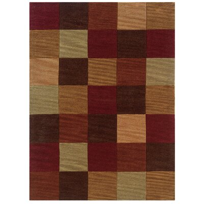 Marisela Hand-Tufted Burgundy/Beige Area Rug Rug Size: Rectangle 110 x 210
