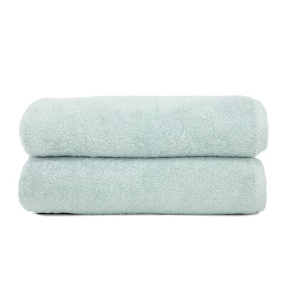 Sprimont 100% Turkish Cotton Soft Twist Bath Towel Color: Soft Aqua