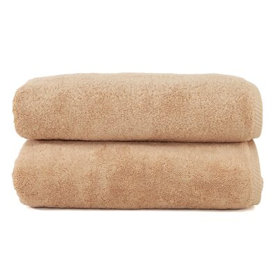 Sprimont 100% Turkish Cotton Soft Twist Bath Towel Color: Warm Sand