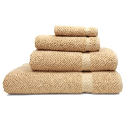 Herringbone 4 Piece Towel Set Color: Warm Sand