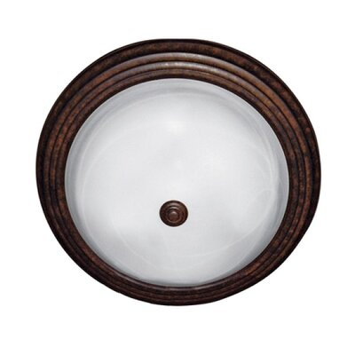 Tiverton 3-Light Flush Mount Finish / Size: Dark brown / 6 H x 15.5 W x 15.5 D