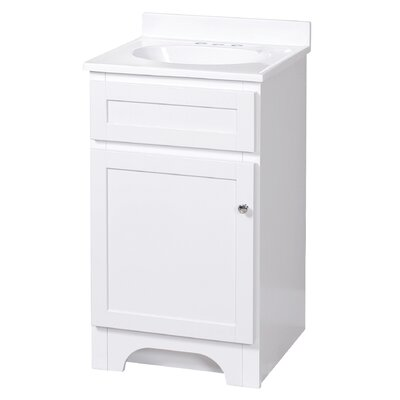 Tottenham 19 Single Bathroom Vanity Set Base Finish: White