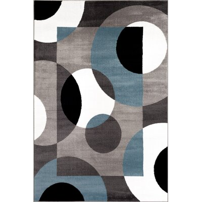 Allison Geometric Blue Area Rug Rug Size: 2 x 3
