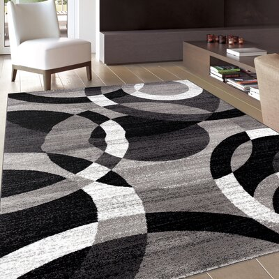Benfer Rectangle Gray Area Rug