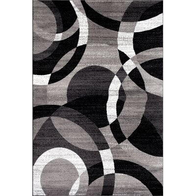 Allison Geometric Gray Area Rug Rug Size: 53 x 73