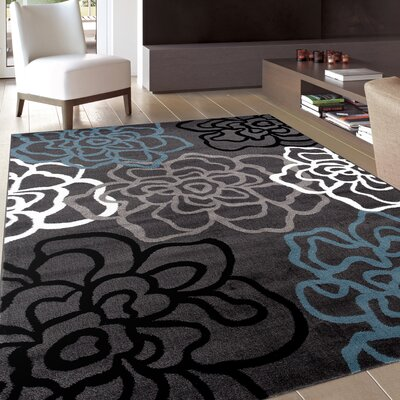 Shiflett Gray Area Rug Rug Size: Rectangle 33 x 5