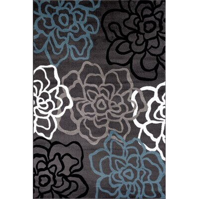 Sharen Gray Area Rug Rug Size: 53 x 73