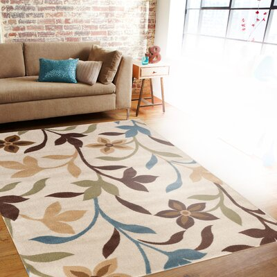 Sharen Cream Area Rug Rug Size: 2 x 3