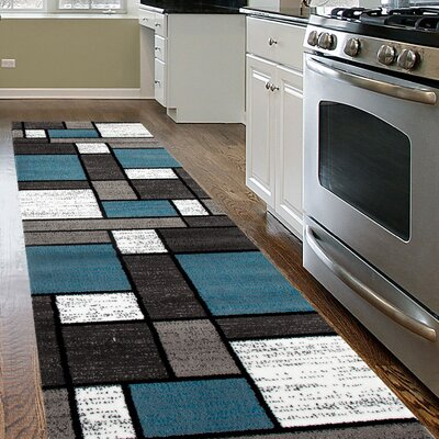Waconia Blue/Gray Area Rug Rug Size: Runner 2 x 72