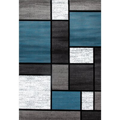 Allison Blue/Gray Area Rug Rug Size: 33 x 53