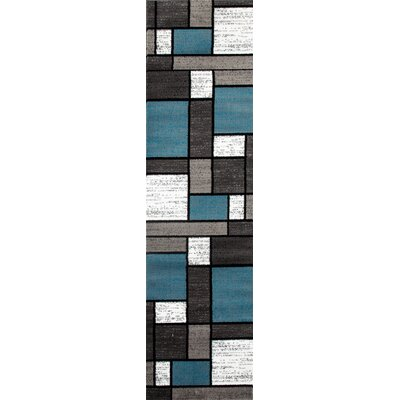 Allison Blue/Gray Area Rug Rug Size: Runner 2 x 72