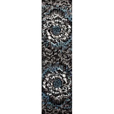 Allison Modern Blue/Gray Area Rug Rug Size: Runner 2 x 72