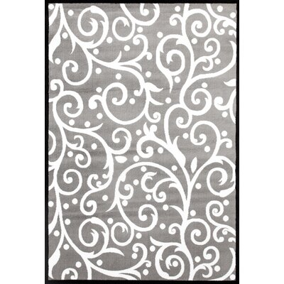 Sharen Gray/White Area Rug Rug Size: 53 x 73
