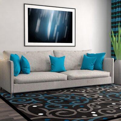 Waconia Gray/Blue Area Rug Rug Size: 2 x 3