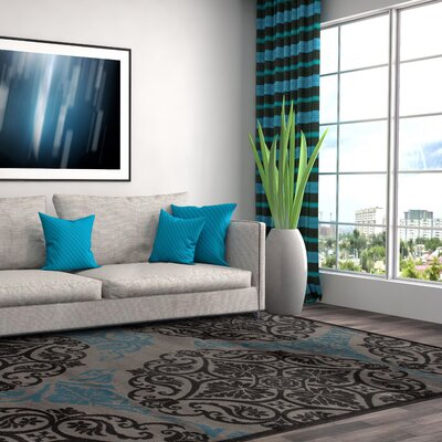 Sharen Gray/Blue Area Rug Rug Size: 33 x 53