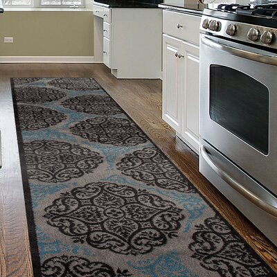 Waconia Gray/Blue Area Rug Rug Size: Runner 2 x 72