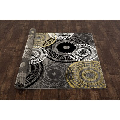 Allison Yellow/Gray Area Rug Rug Size: 2 x 3