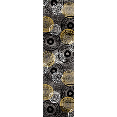 Allison Yellow/Gray Area Rug Rug Size: Runner 2 x 72