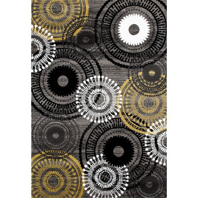 Allison Yellow/Gray Area Rug Rug Size: 710 x 102