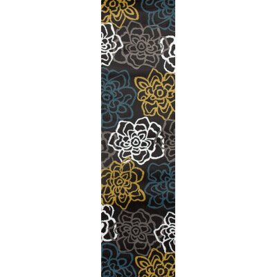 Sharen Yellow/Gray Area Rug Rug Size: Runner 2 x 72
