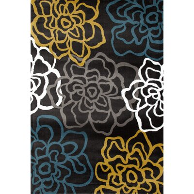 Sharen Yellow/Gray Area Rug Rug Size: 710 x 102