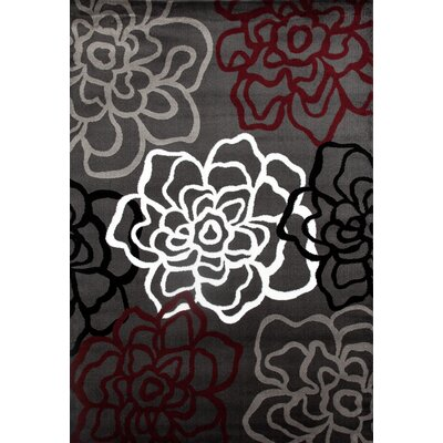Sharen Red/Gray Area Rug Rug Size: 2 x 3