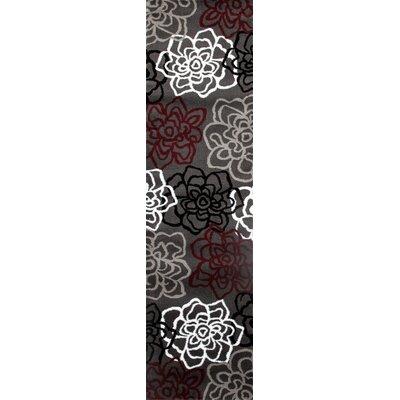 Sharen Red/Gray Area Rug Rug Size: Runner 2 x 72