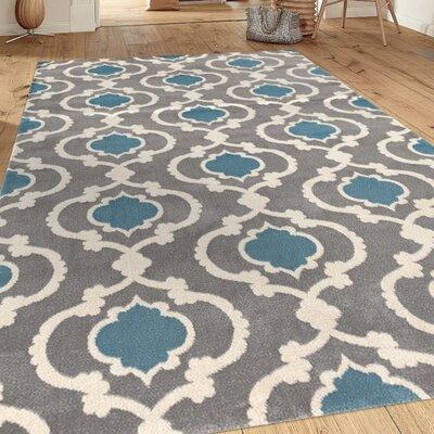 Wabon Gray/Blue Area Rug Rug Size: 710 x 102