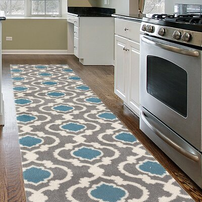 Melrose Gray/Blue Area Rug Rug Size: Runner 2 x 72