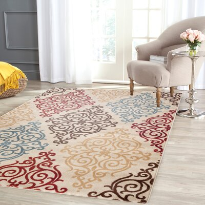 Waconia Cream Area Rug Rug Size: Rectangle 33 x 5