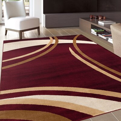 Allison Burgundy Area Rug Rug Size: 710 x 102