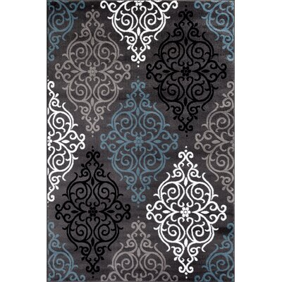 Sharen Rectangle Gray Area Rug Rug Size: 53 x 73