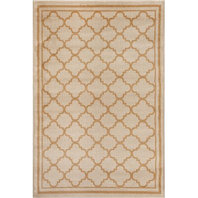 Waconia Cream/Gold Area Rug Rug Size: Rectangle 33 x 5
